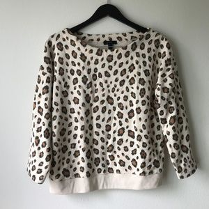 J.Crew Leopard Sweatshirt Long Sleeve